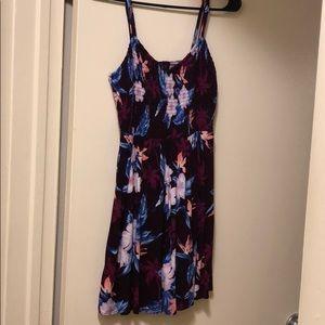 Double Spaghetti Strap Floral Dress